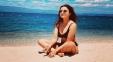 Pic: Beach Baby Sizzles In Black Bikini