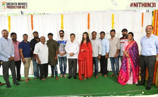 Allu Aravind Claps, Anil Ravipudi Directs Nithiin