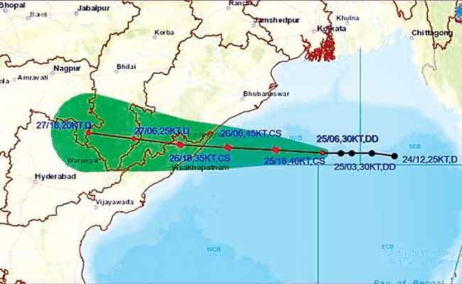 Andhra on alert as cyclone 'Gulab' set to make landfall