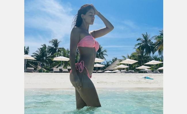 Disha Patani Looks Super Hot In Pink Bikini