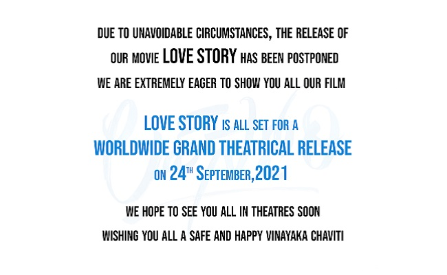 'Love Story' release in theatres on Sep 24th