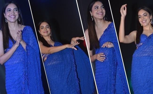 Pics: Miss Varma Graces In Blue Saree