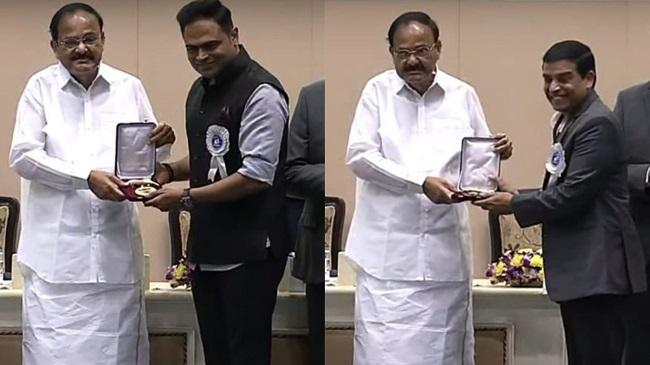 Vamsi, Dil Raju Receive National Award For Maharshi
