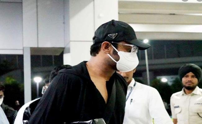 Prabhas Appeared With Mask Due to Coronavirus Effect