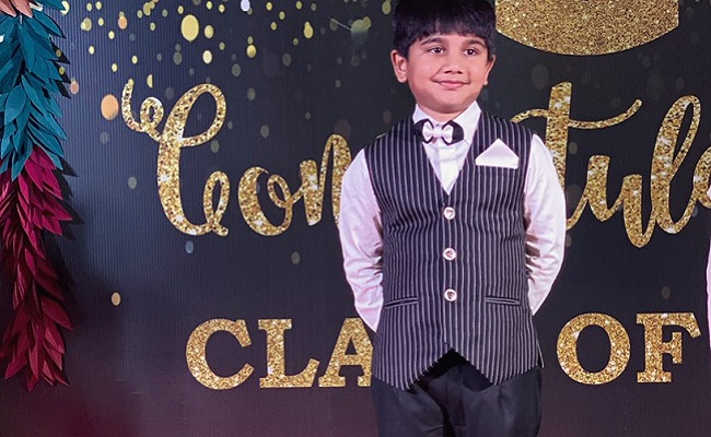Bunny shares son's picture from pre-school graduation