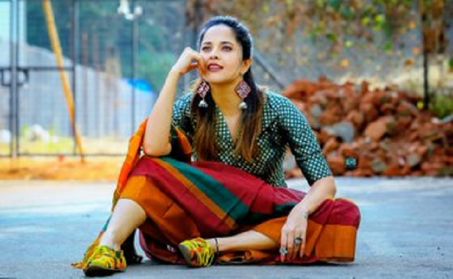 Anasuya Denies Partying with That Director