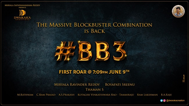 Balakrishna-Boyapati Film BB3 1st Roar Today