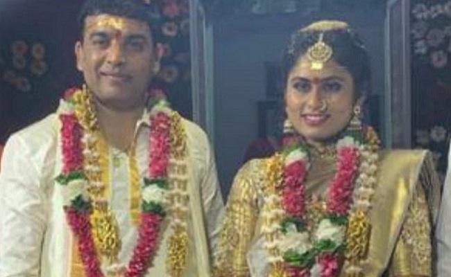 Pics: Dil Raju gets hitched amidst lockdown