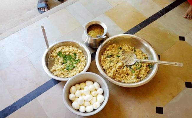Mid-day meals at home in Andhra!
