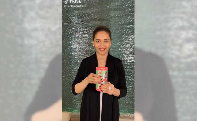 Madhuri's dance with a candle to spread positivity