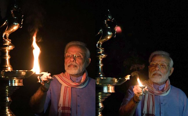 'Mini Diwali' as India Cheers Modi's 'Lights Out' Call