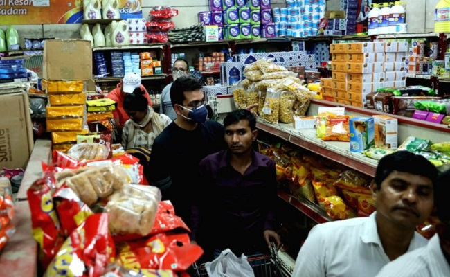 Panic buying at grocery stores in parts of Hyderabad