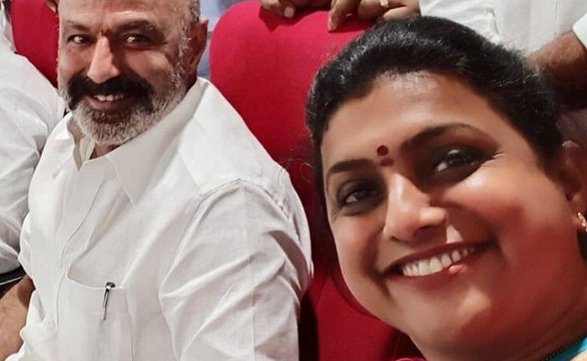 Roja To Help Balayya To Develop Hindupur!