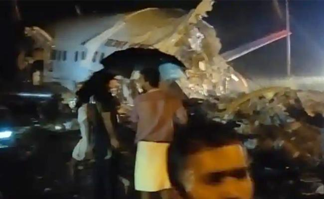 Pilots among 17 dead as AI Express plane overshoots runway, plunges into valley