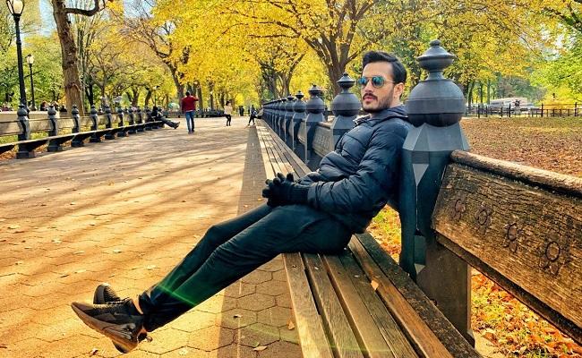 Pic Talk: Akhil Akkineni Enjoying The Nature