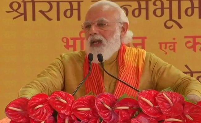 Long wait ends: PM chants 'Jai Siya Ram' in Ayodhya