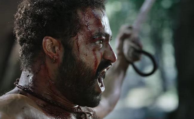 RRR teaser: NTR as Komaram Bheem flexes his shredded muscles