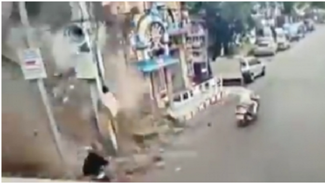 This Hyd woman has a lucky escape