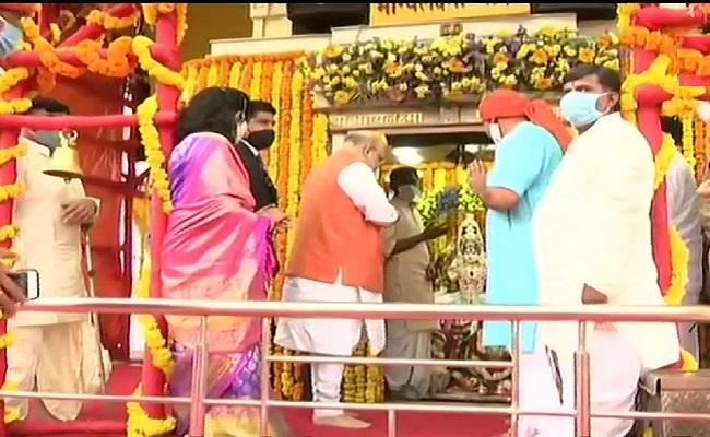 GHMC Elections: Shah Prays At Charminar Temple