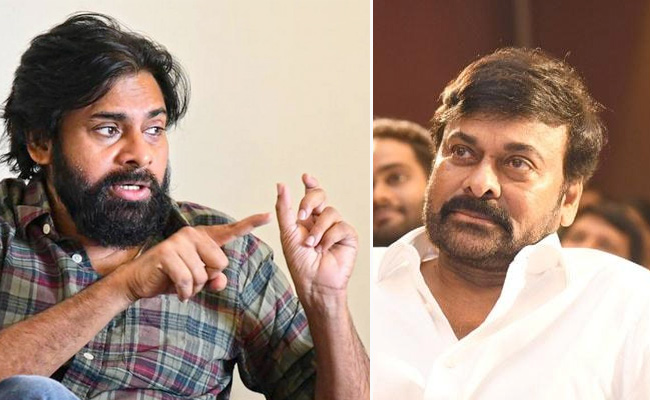Pawan Fans Upset With Chiru Praise For KCR!
