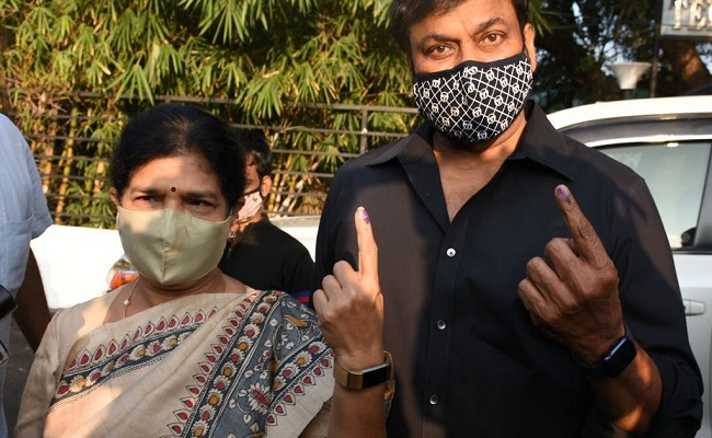 GHMC elections: Chiranjeevi, Nagarjuna cast votes