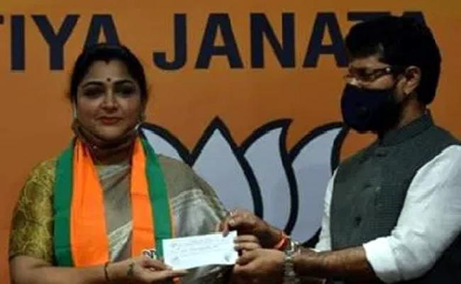 Khushboo Removes Air From Congress Tyre?