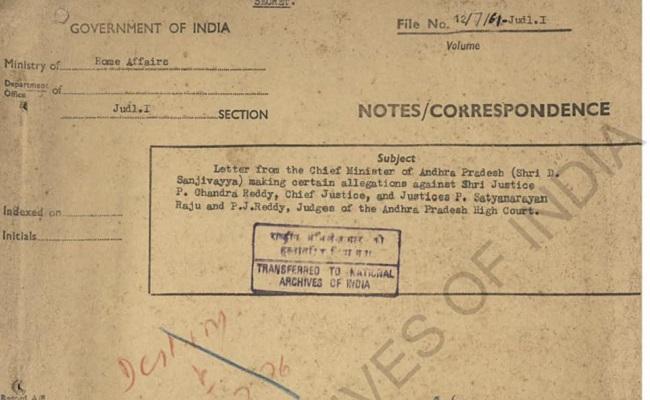 Sanjeevaiah wrote to Centre against corrupt judges?