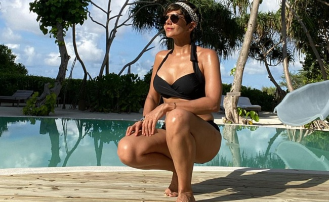 Pic: Actress Is Chilling Like A Villain In Maldives