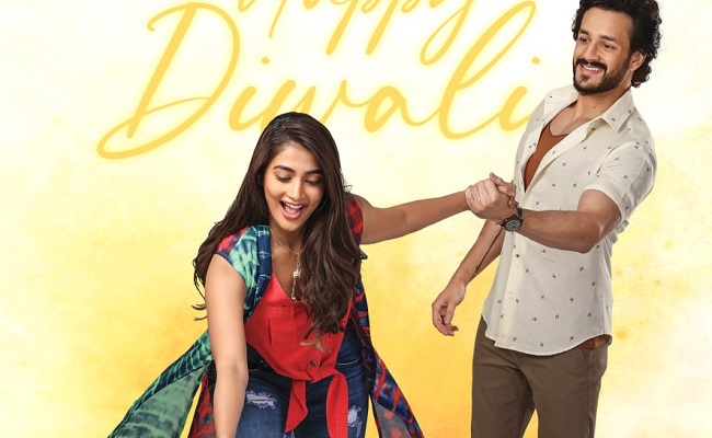 MEB Poster: Playful Pooja and Akhil's Diwali wishes