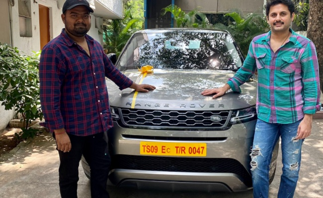 Nithin Gifts A Range Rover To Bheeshma Director