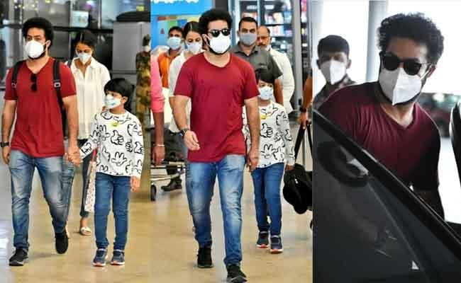 Viral Pics: NTR returns to Hyderabad from Vacation