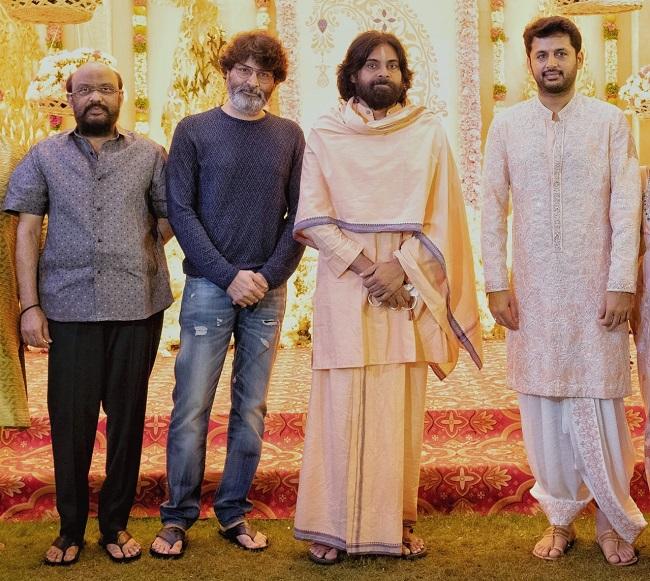 Pic: Pawan, Trivikram Attend Nithiin Pre-Wedding Bash
