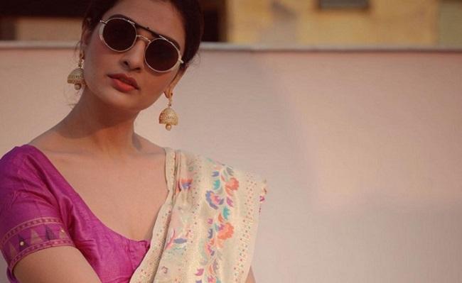 Pics: Payal Rajput In Perfect Saree Look