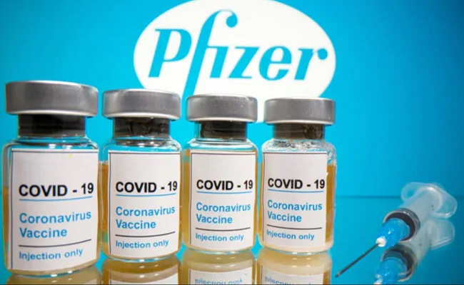 Pfizer 2-dose vaccine 95% effective, no serious side effects
