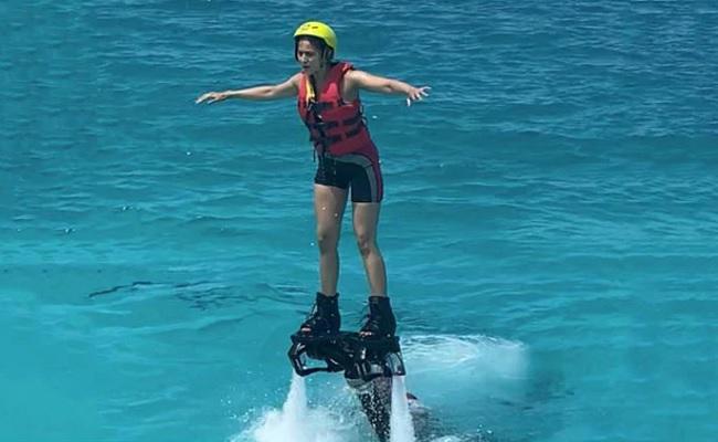 Rakul Describes Flyboarding Experience In Maldives