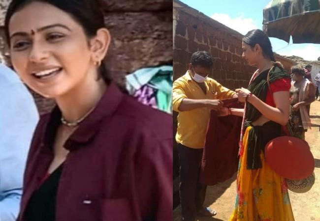 Rakul shooting in Vikarabad Amid Drug Row