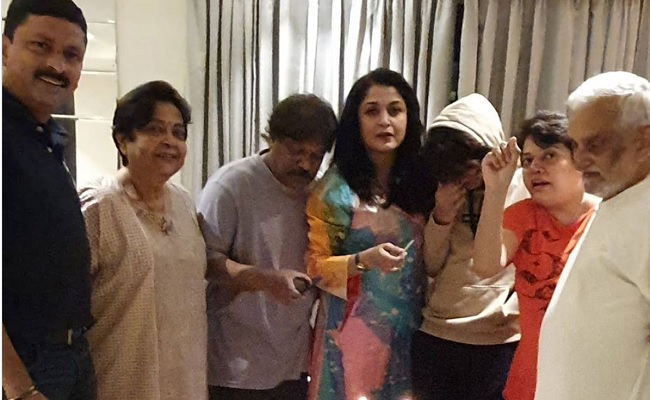 Pic: Ramya Krishna rings in 50th birthday with family