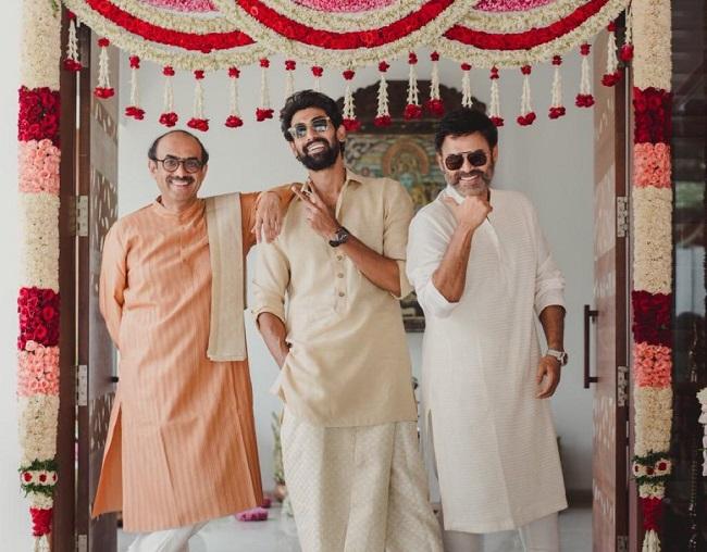 Pic Talk: Rana, Venky, Suresh Babu Go Traditional.. thumbnail