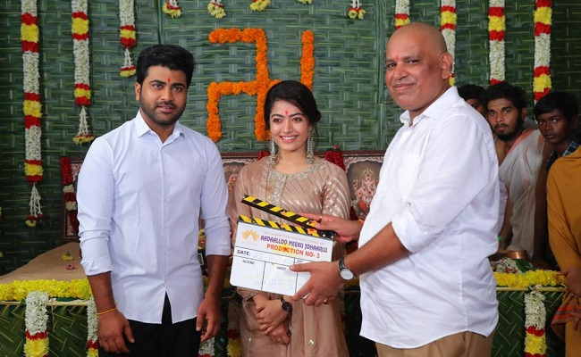 Sharwanand's AMJ Muhurtham In Temple Town