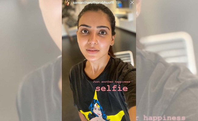 Samantha Posts 'just another happiness' Selfie