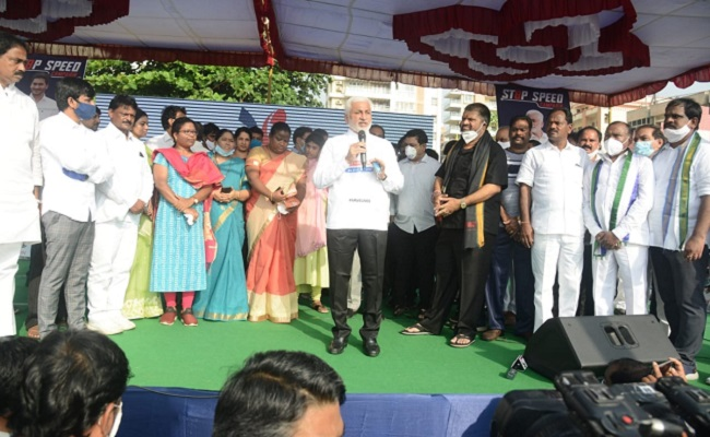 YSRCP: Rally for safe driving and against eve-teasing