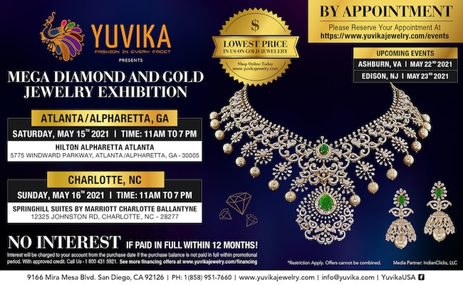 Yuvika Jewelry Exhibitions - Atlanta and Charlotte