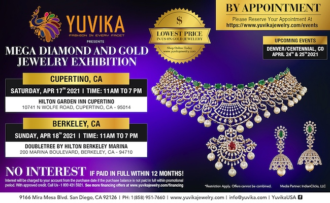 Yuvika Jewelry  Exhibitions - Cupertino and Berkeley