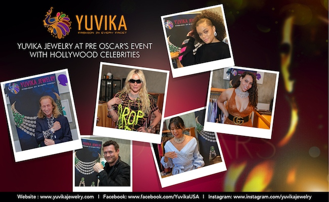 Yuvika Jewelry at Pre-Oscars event with celebrities