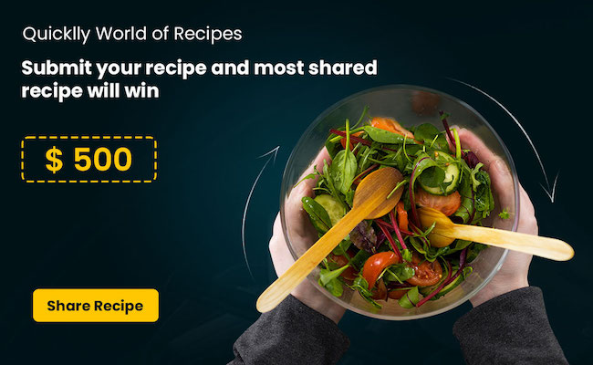 Be a Quicklly Chef - Share Recipes and Earn Rewards