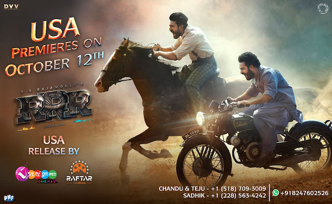 Sarigama & Raftar Creations releases RRR in USA