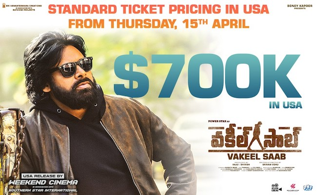 Vakeel Saab now at Standard Ticket Pricing in USA