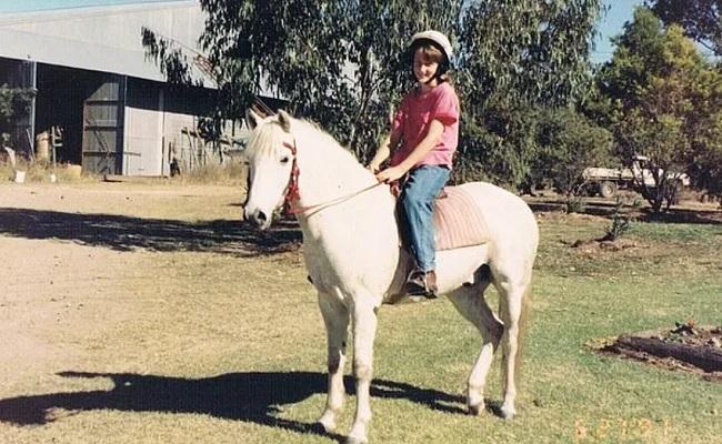 Kangana went horseback riding on Sunday morning