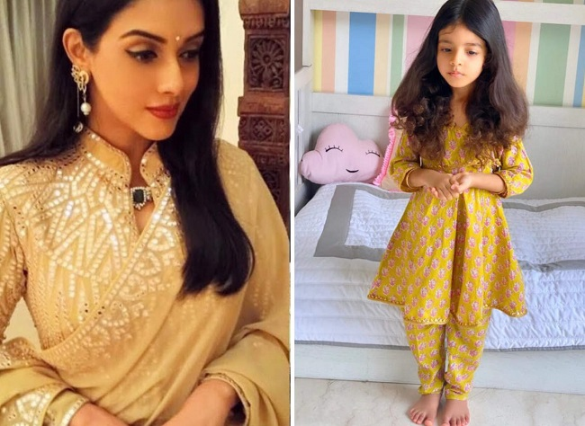 Asin shares a pic of her daughter Arin's kathak practice