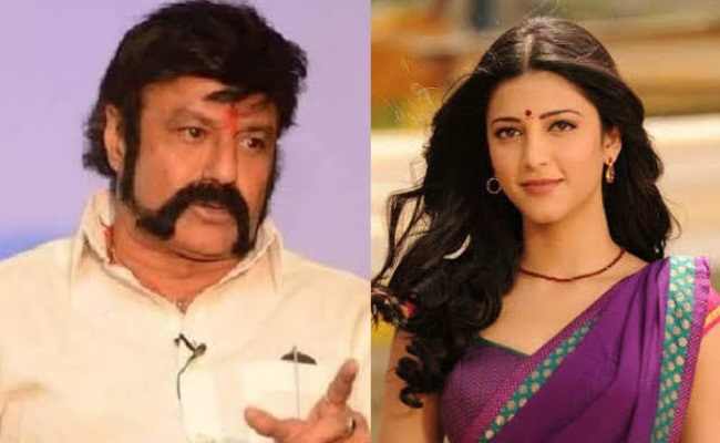 Shruthi Haasan Escaped From Balakrishna's Project